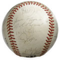 Autographs:Baseballs, 1987 Houston Astros Team Signed Baseball. Led by skipper HalLanier, the 1987 Houston Astros were on the heels of a divisio...