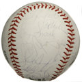 Autographs:Baseballs, 1991 St. Louis Cardinals Team Signed Baseball. Thirty-threefantastic signatures have been applied to the offered ONL (Whit...