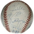 Autographs:Baseballs, 1993 Toronto Blue Jays World Champion Team Signed Baseball. Led bymanager Cito Gaston, the 1993 Toronto Blue Jays brought ...