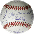 Autographs:Baseballs, 1999 New York Yankees World Champion Team Signed Baseball. TheWorld Champion New York Yankees swept the Atlanta Braves in ...