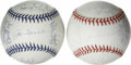Autographs:Baseballs, 1998 and 1999 New York Yankees World Champion Team Signed BaseballsLot of 2. Back to back World Series Champions (and they... (Total:2 Items)