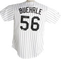 Autographs:Jerseys, Mark Buehrle Signed Jersey. Brand new Majestic Chicago White Sox home pinstripe jersey offered here has been affixed with r...