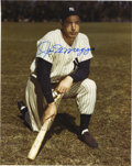 Autographs:Photos, Joe DiMaggio Signed Photograph. Classic image of the Yankee Clippersports a perfect blue sharpie signature courtesy of Joe...
