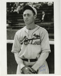 """Autographs:Photos, Chick Hafey Signed Photograph. Hall of Fame Redbirds great ChickHafey is the subject of this fantastic 8x10"""" print, which ..."""