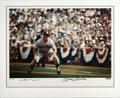 Autographs:Photos, Mickey Mantle Signed Oversized UDA Artist's Proof Photograph, GameAction. Another magnificent display piece from Upper Dec...