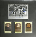 Autographs:Photos, Mays, Snider, and DiMaggio Multi-Signed Photograph Display. Thephotograph that we offer here shows the New York centerfiel...