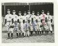 Autographs:Photos, 1943 New York Yankees Team Signed Photograph with World SeriesTicket Stub. In what would become Joe McCarthy's final World...