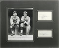 Autographs:Index Cards, Dizzy and Daffy Dean Signed Index Card Display. The St. LouisCardinal duo of HOFer Dizzy Dean and his brother Daffy were m...