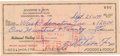 Autographs:Checks, 1970 Nelson Fox Signed Personal Check. Written for the amount of$120 paid to the order of the Washington Senators, Hall of...