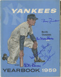 Autographs:Others, 1959 Signed New York Yankees Yearbook. Preserved in marvelous condition, we offer this fine example of the Official New Yor...