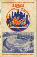 Autographs:Others, 1962 New York Mets Multi-Signed Program. From the inaugural seasonthe expansion New York Mets played baseball at the major...