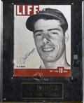 Autographs:Others, Joe DiMaggio Signed Display. Visually astounding display piece putsa reproduction of Joe D's 1939 appearance on the cover ...