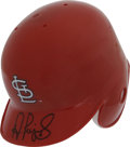Autographs:Others, Albert Pujols Signed Mini Helmet. Widely regarded as the besthitter in baseball today, Albert Pujols had yet another monst...