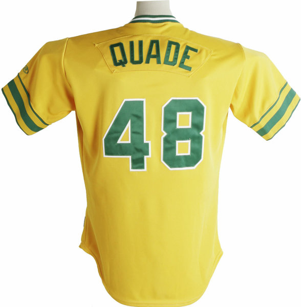 check out a34e9 f8d4d 2002 Mike Quade Game-Worn Throwback Jersey. From 2000-2002 ...