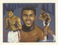 Autographs:Letters, Muhammad Ali Signed Print. From the art of Don Sprague, we presentthis print depicting the Greatest -- Muhammad Ali. Also...