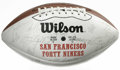Football Collectibles:Balls, 1992 San Francisco 49ers Team Signed Football. On this souvenir SanFrancisco 49ers Wilson football appears the signatures ...