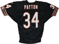 Walter Payton Single Signed Jersey. With the rare combination of power and grace, Walter Payton possessed the rare abili...