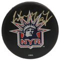 Hockey Collectibles:Others, Wayne Gretzky Signed Hockey Puck. One of the most dominant scorers the sport has ever known, Wayne Gretzky continually shoc...