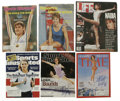Olympic Collectibles:Autographs, Olympic Gold Medal Winners Signed Magazines Lot of 6. Each of the magazines we offer here has been signed on the front cove...