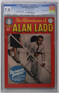 "Golden Age (1938-1955):Adventure, Adventures of Alan Ladd #5 Davis Crippen (""D"" Copy) pedigree (DC, 1950) CGC FN/VF 7.0 Cream to off-white pages. Photo cover...."