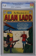 """Golden Age (1938-1955):Adventure, Adventures of Alan Ladd #8 Davis Crippen (""""D"""" Copy) pedigree (DC, 1950) CGC FN/VF 7.0 Off-white to white pages. Win Mortimer..."""