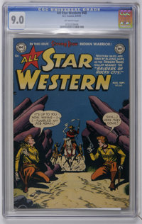 All Star Western #60 (DC, 1951) CGC VF/NM 9.0 Off-white pages. Last 52 page issue. Overstreet 2006 VF/NM 9.0 value = $22...