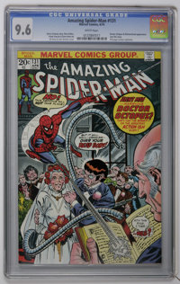 The Amazing Spider-Man #131 (Marvel, 1974) CGC NM+ 9.6 White pages. Doctor Octopus appears (trying to marry Aunt May) an...