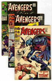 The Avengers Group (Marvel, 1968-75) Condition: Average VG. Includes #50, 51, 54, 60, 62, 65, 68, 77, 82, 84, 86, #87 (o...