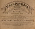 Books:Americana & American History, [Americana]. Real Pen Work: Self-Instructor in Penmanship.Pittsfield: Knowles & Maxim, [nd, copyright 1881]. Ob...