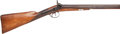 Shotgun:Muzzle loading, 11 bore William Read of Boston Percussion Double Barrel Shotgun....