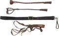 Arms Accessories:Holsters, Lot of U.S. Cavalry Items and Two Branding Irons.... (Total: 5 )