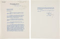 Autographs:U.S. Presidents, John F. Kennedy Typed Letter Signed as Senator....