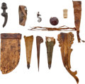 Edged Weapons:Other Edged Weapons, Lot of 11 Assorted African Relics.... (Total: 10 )