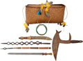Edged Weapons:Other Edged Weapons, Lot of 7 Assorted Ethnographic Items.... (Total: 6 )