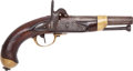Handguns:Muzzle loading, French Cavalry Percussion Pistol....