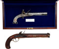 Handguns:Muzzle loading, Lot of Two Reproduction Flintlock Pistols.... (Total: 2 )