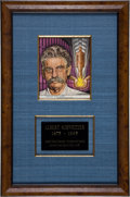 Autographs:Inventors, Albert Schweitzer Signed Portrait Illustration ...