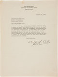 Autographs:Military Figures, Douglas MacArthur Typed Letter Signed....