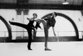 Photographs:20th Century, ANTHONY CRICKMAY (b. 1937). Mikhail Baryshnikov and GregoryHines (From the set of White Knights)(Two Photographs), 1985...(Total: 2 Items)