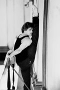 Photographs:20th Century, ANTHONY CRICKMAY (b. 1937). Mikhail Baryshnikov, circa 1985.Gelatin silver, printed later. 14 x 9-1/2 inches (35.6 x 24...