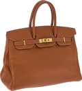 Luxury Accessories:Bags, Hermes 35cm Ardennes Leather Potiron Birkin Bag with Gold Hardware. ... (Total: 2 Items)