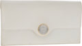 Luxury Accessories:Bags, Hermes White Veau Graine Leather Medallion Envelope Clutch. ...(Total: 2 Items)