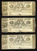 Obsoletes By State:Arkansas, (Little Rock), AR- Arkansas Treasury Warrant $10 Apr. 11, 1862 Cr. 54 Four Examples. ... (Total: 4 notes)
