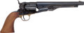 Handguns:Single Action Revolver, Reproduction Colt Model 1860 Fluted Army Percussion Revolver byUberti....