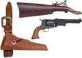 Handguns:Single Action Revolver, Reproduction Colt Dragoon Revolver with Holster and Shoulder Stock.... (Total: 2 )