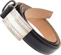 Luxury Accessories:Accessories, Tiffany & Co Sterling Silver Buckle with Leather Belt. ...