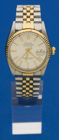 Timepieces:Wristwatch, Rolex Gent's Two Tone Oyster Perpetual Ref. 16000, circa 1980. ...