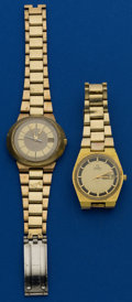 Timepieces:Wristwatch, Two Omega's Automatic Wristwatches . ... (Total: 2 Items)