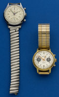 Timepieces:Wristwatch, Two Wristwatches Pierce & Le Jour Chronographs. ... (Total: 2Items)