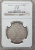 Bust Half Dollars, 1807 50C Large Stars VF20 NGC. O-114. Mintage: 750,500. NumismediaWsl. Price for problem free NGC/PCGS coin in VF20: $535....